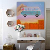 Картина на холсте «Хиппи-фургончик»